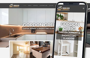 Cammy Graphic Design Gordon Greig Joinery Website