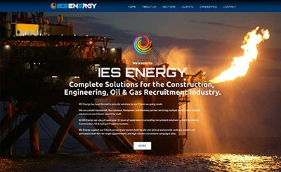 Cammy Graphic Design IES Energy website