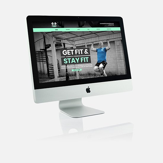 Cammy Graphic Design McCartney Fitness website